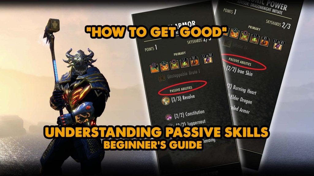 elder scrolls online, passives, skills, eso skills