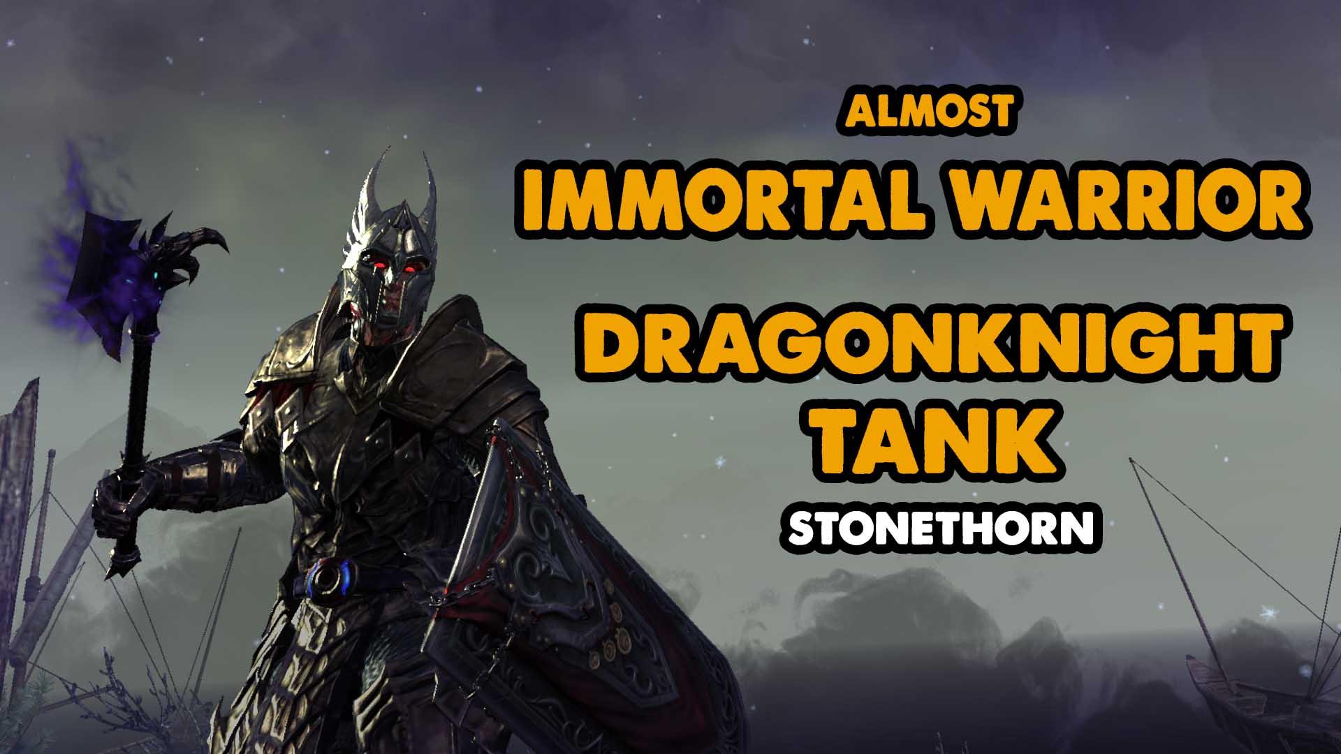 Dragonknight, tank, eso, elder scrolls, immortal, leeching