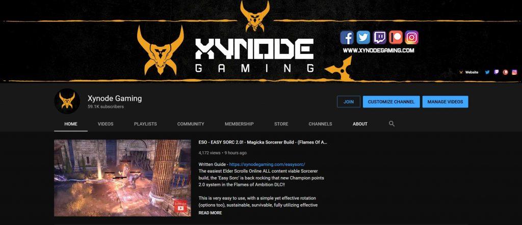 xynode, youtube, twitch , eso, elder scrolls online,